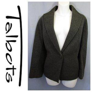 Talbots Gray Boiled Wool Blend Blazer Jacket 12P